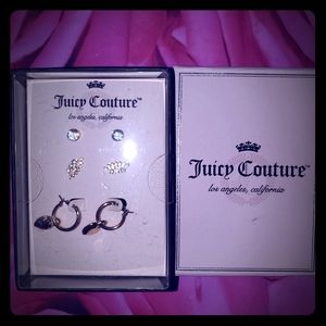 nwt 3 pairs Juicy couture earrings box